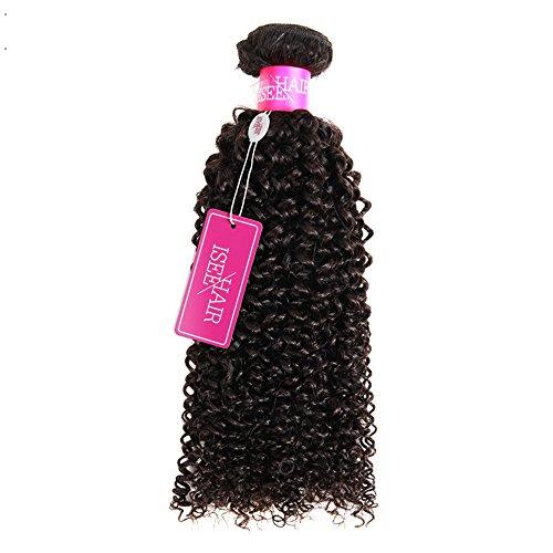 ISEE Hair 9A Grade Mongolian Kinky Curly Hair Extension Virgin Human Hair Weaving One Bundles Kinky Curly Virgin Hair 100% Human Hair Weaves Extension Mongolian Virgin Hair (24)
