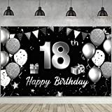 Happy 18th Birthday Banner Hintergrund Extra Große Stoff