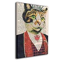 アートフレーム アートパネル 復古 音符 猫さん 現代壁の絵 壁掛け式の装飾画 壁アート 木製 インテリアアート 額縁なし ポスター 部屋飾り ウォールアート モダン 30x20cm