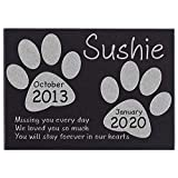 CustomizationMill Personalized Pet Memorial Stone - Granite Dog Grave Marker w 3 Sizes | Garden Stones Loss of Dog | Sympathy Poem, Loss of Pet Gift, Indoor - Outdoor Tombstone Headstone 12x8