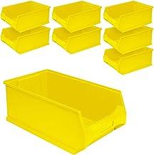 """8 cajas de plástico """"Profi"""" LB 2, 500 x 300 x 200 mm, contenido 21 L, color amarillo"""
