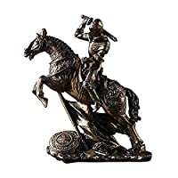 彫像の彫刻人工動物の装飾品庭の装飾ホームアンティークアーマーナイトフィギュアミニチュアモデルホームアクセサリー男の子の誕生日