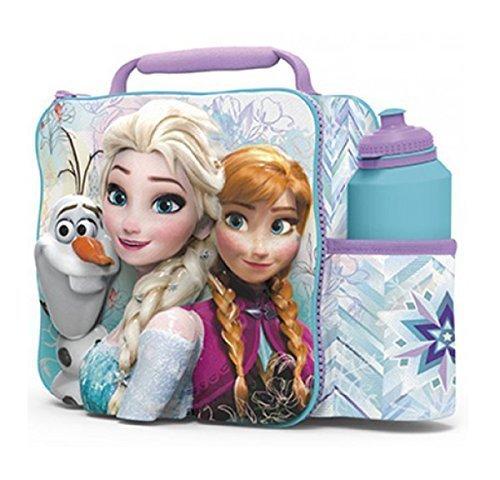 FROZEN Kids Children 3D Lunch Box Bag With Sport Water Bottle