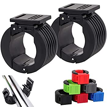 """ZPARIK Olympic Barbell Clamps Collars 2 inch Barbell Clips Quick Release Weight Clips Clamps for Olympic Bars 7"""" Non-Slip Weight Plates Collars for Pro Olympic Weight Lifting Training  Black"""