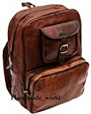 Handmade World Vintage Laptop Leather Backpack Lightweight School College Bag Rucksack Fits 15-inch Notebook...