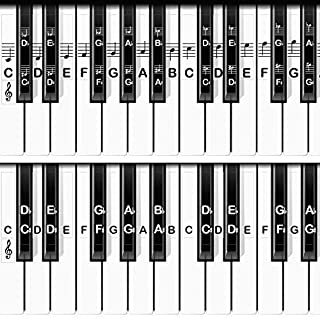 CoverTribe Piano Keyboard Stickers for White and Black Keys - 2 Layouts, Removable and Durable, Fits All Size Pianos, Easily Learn to Read Piano Notes, Includes Beginners Guide to Cover Music eBook