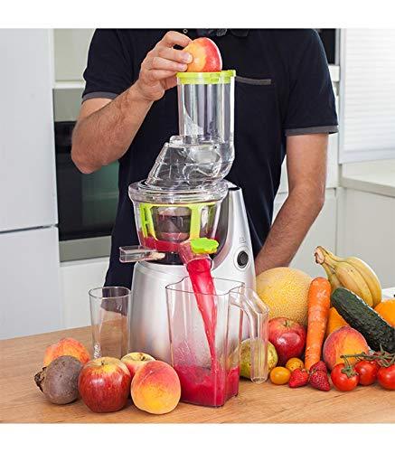 Cecotec Cecojuicer Pro Licuadora de Prensado en Frío, Para Frutas y Verduras, Extractor de Jugo con Canal XL para Fruta Entera, Sistema Slow Juicer, 250 W