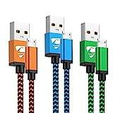 Yosou Câble Micro USB [1m/Lot de 3] Cable Android Haute Vitesse Cable USB Micro USB...
