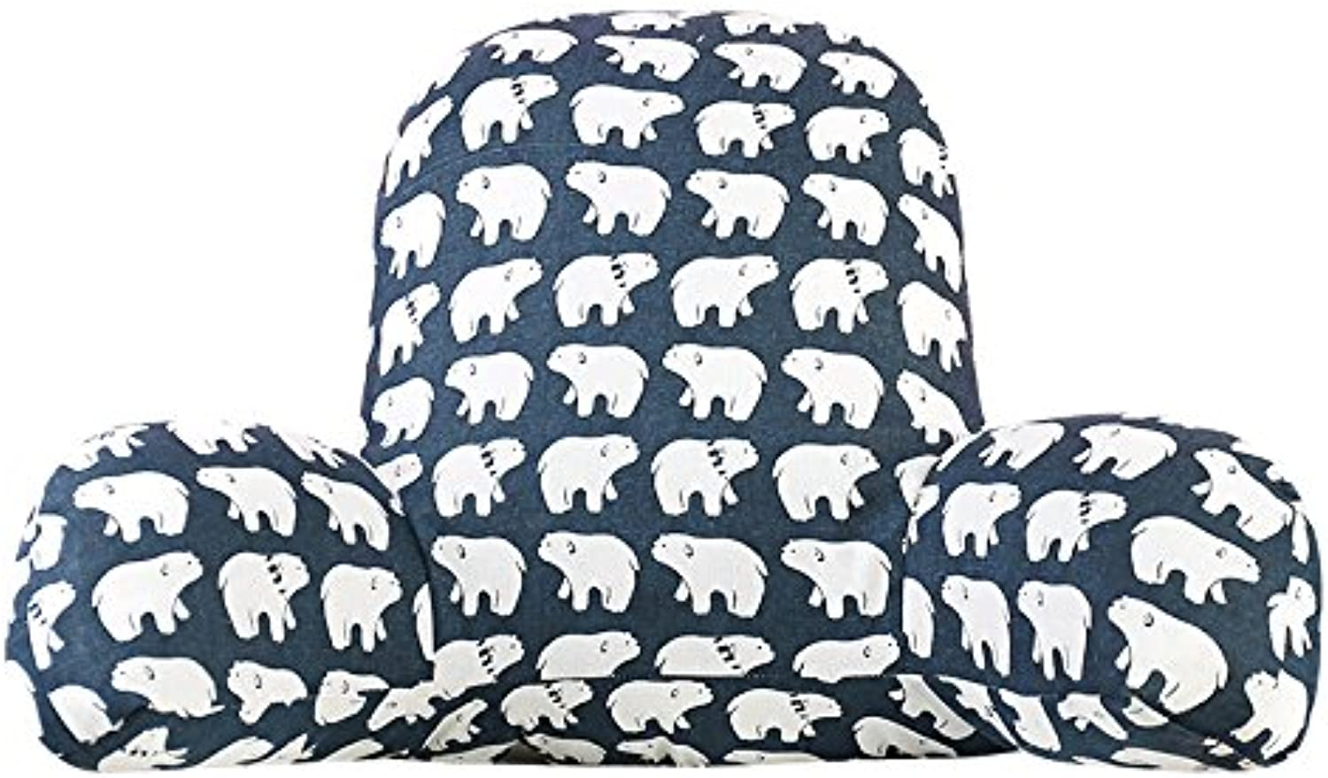 Cushion car Three-Section Lumbar Support, Office Removable and Washable Lumbar Cushion Pillow, Bed Lengthened Thickening Pillow (color   bluee, Size   L(6035CM))