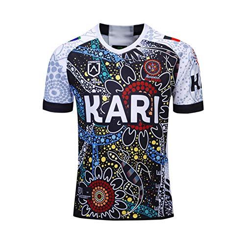 2019 New Zealand Indigenous Camouflage Rugby-Trikot, Kurzarm Lässig Atmungsaktives T-Shirt, Fan Football Match Training Polo-Shirt XXL