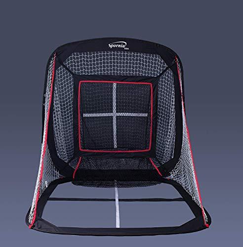 Spornia Baseball/Softball Pitching & Hitting Net (5' x 5') with Strike-Zone Sock Net Target
