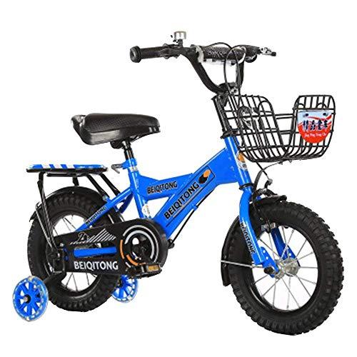 HUAQINEI Bicicleta para niños con Ruedas, Bicicleta para niños de fácil Montaje, Ruedas para 12/14/16/18 para niños y niñas de 2 a 13 años