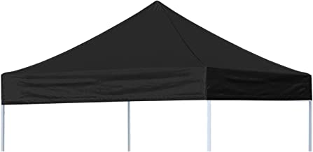 CRINEX 10x10 Black Canopy Replacement Top, Instant EZ Pop Up Canopy Top Cover, Patio Pavilion Gazebo Sunshade Tent Oxford Cover Outdoor, The Best 800D Material, 100% Waterproof and 100% UV Resistant