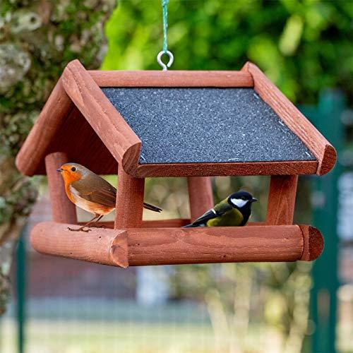 """VOSS.garden Vogelhaus """"Tilda"""" aus Holz zum Aufhängen, Vogelfutterhaus, Imprägniert mit Holzschutzlasur, Vogelhäuschen Futterhaus Futterhäuschen Vogelvilla"""
