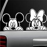 pegatina de pared frases Etiqueta auto Etiqueta auto Etiqueta autoadhesiva Mickey Mouse y Minnie Mouse Combo Ventana para etiqueta auto