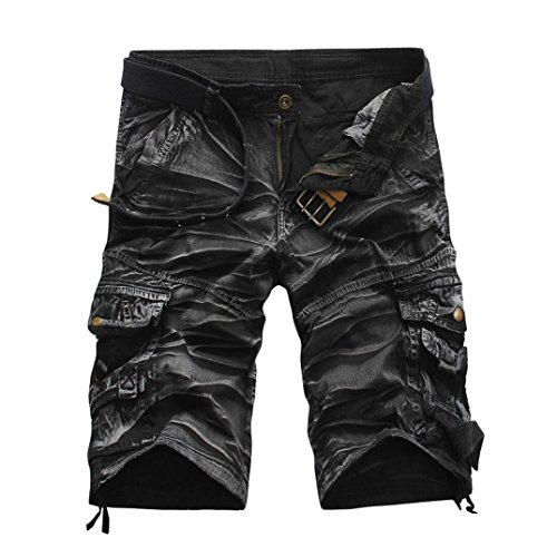 LUCKDE Herrenhosen Cargo, Kurze Sporthose Jeans Arbeitshose Haremshose Jogging Athletic Trousers Fitnesshose Hosen Sporthose Sweathose High Waist Shorts Outdoorhose (Taille: 84cm / 33.1