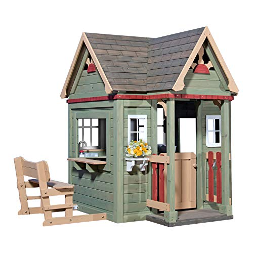 Product Image of the Backyard Discovery Victorian Inn All Cedar Outdoor Wooden Playhouse