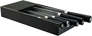 Plastic KNIFEdock - In-Drawer Knife Storage for your kitchen. Replace your knife block with a revolutionary product. Clear your counter top of clutter, and easily identify the desired knife. KNIFEdock