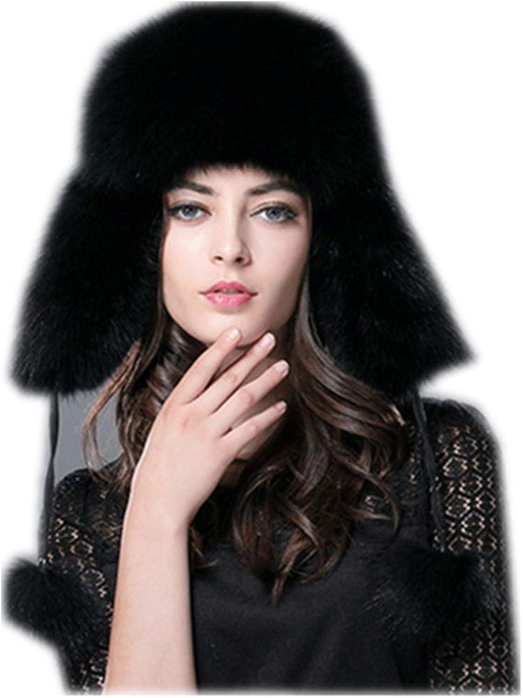 Gegefur New Russia Hot Fox Fur Hat Fashion Winter Warm Raccoon Bomber Fox Fur Hat