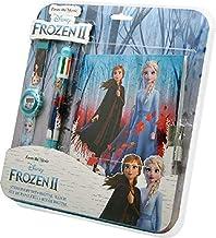 Frozen set digitaal polshorloge + balpen 6C + dagboek 2 armband, unisex, meerkleurig, uniek