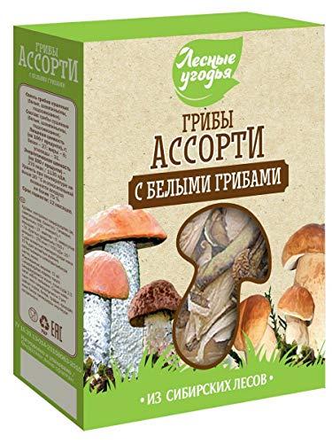 White Mushrooms dried MIX 45 g Лесные угодья / Грибы сушеные Ассорти (с белыми грибами)