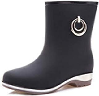 ZOSYNS Rubberlaarzen voor dames, korte laarzen, waterdicht, antislip, regenlaarzen, outdoorschoenen, maat 36-40