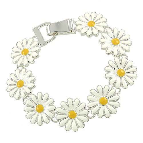 Daisy Flower Magnetic Bracelet with Gift Box