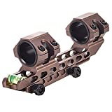 WestHunter Offset Cantilever Dual Ring Picatinny Scope Mount,1'/30mm Tube Universal Riflescope Rings with Bubble Level,Tan