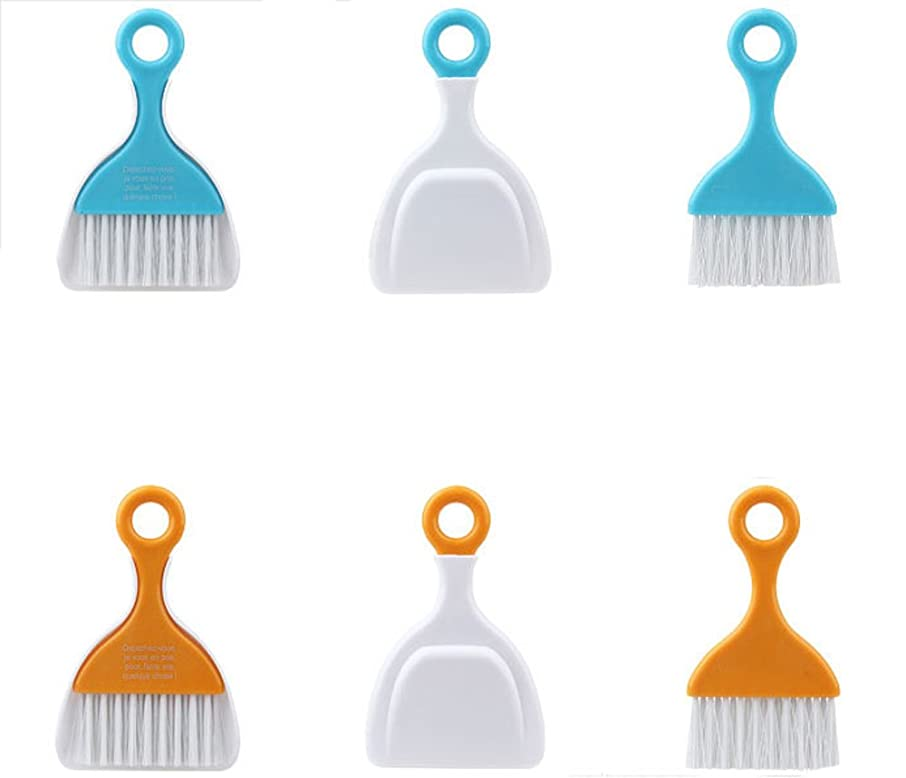 Fantastic Job ?Keyboard Cleaning Whisk Broom Dustpan?Desktop Mini Cleaning Brush Random Color Pack of 2