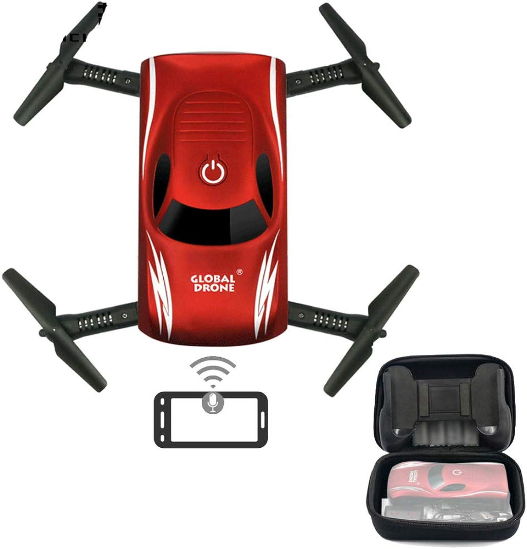 precio razonable Aeronave de control remoto controlado controlado controlado por voz, 2.4 GHz WIFI plegable de cuatro ejes aviones de altura fija fotografía aérea juguete control de sonido teléfono móvil gravedad inducción control Drone  comprar nuevo barato