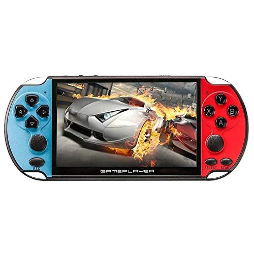 SQUAREDO Nueva Consola de Juegos 8G Pocket PSP, Consola de Juegos portátil de Pantalla Grande de 128 bits a Color de 5.1 Pulgadas, 10000 Juegos incorporados