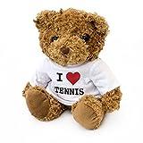 London Teddy Bears Ours en Peluche I Love Tennis - Mignon et câlin - Cadeau pour Fan de Tennis - Wimbledon Roland Garros US Open