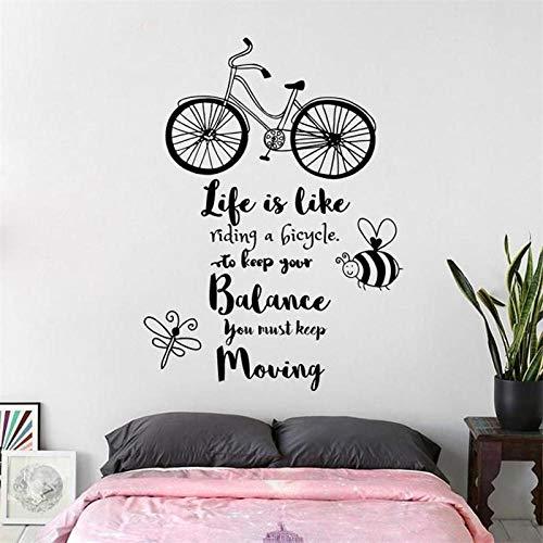 ?KDSMFA Väggdekaler livscykel balans fortsätt flytta inspiration citat klistermärke kontor arbetsrum vinyl barnrum dekal 57 x 77 cm