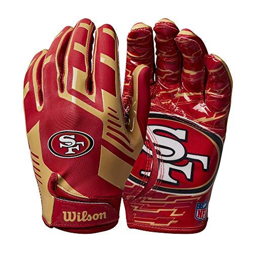 Wilson NFL Stretch Fit Football Gloves - San Francisco- Adult, WTF9326SF
