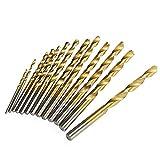 ESUHUANG Herramienta de la carpintería metálica 13pc 1.5-6.5mm Ronda caña Fresa Espiral de bits Conjunto de Titanio Recubierto Agujero Cortador de Acero de Alta Velocidad del Arma Broca