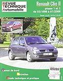 E.T.A.I - Revue Technique Automobile 118 - RENAULT CLIO II PHASE 1 et 2 - 2001 à 2006