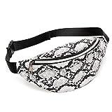 WDFVGEE - Riñonera de cintura para mujer y niña, bolsa de viaje, bolsa de hombro, fácil de llevar, White (Blanco) - 3TT901865-W_ENG1