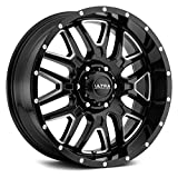 Ultra 203BM HUNTER BLACK Wheel with Gloss CNC Milled Accents and Clear-Coat (0 x 9. inches /6 x 139 mm, 18 mm Offset)