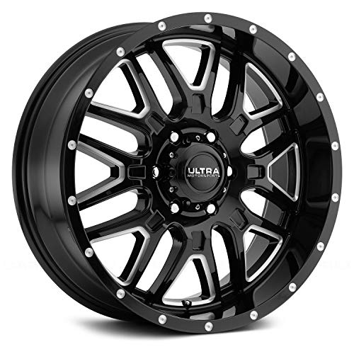 Ultra 203BM HUNTER Black Wheel with Gloss CNC Milled Accents and Clear-Coat (0 x 9. inches /6 x 139...