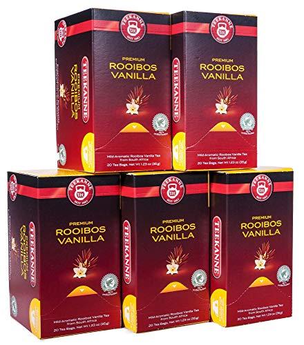 Teekanne Premium Rooibos Vanilla- 20 Tassenportionen, 5er Pack (5 x 35 g)