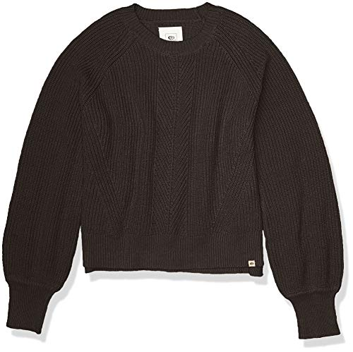 Rip Curl Junior's Coco Crew Sweater, Charcoal Heather, X-Large