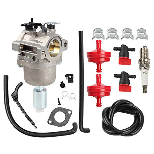 Butom 799727 Carburetor with Air Filter Fuel Filter Shut Off Valve Carb for 698620 690194 791886 499153 498061 14hp 15hp 16hp 17hp 17.5 HP 18hp Craftsman Lawn Tractor Mower