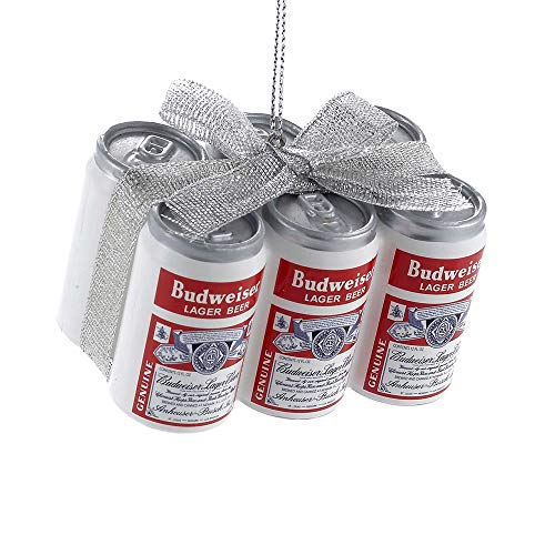 Kurt Adler Budweiser Vintage Cans with Bow Ornament #AB1151