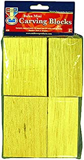 MIDWEST PRODUCTS-Carving Blocks(Balsa Mini, 72 cubic inches, random sizes and shapes)
