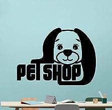 Pegatinas de pared para mascotas Tienda de mascotas Perro Cachorro Decoración del Hogar Diseño Animal Pet Shop Wall Teen B...