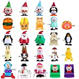 24 Pack Wind Up Toys Christmas Stocking Stuffers Advent Calendar Gift for Kids,Assorted Toys for Kids Party Favors Gift for Christmas with A Gift Box.