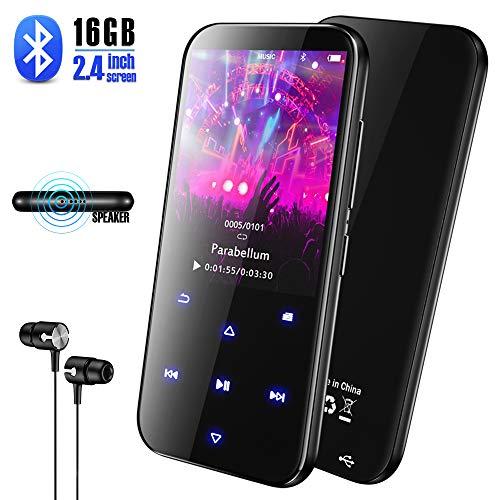 Olycism Lettore Mp3 Bluetooth 8GB portatile con Clip e Cinturino e 1,44 Pollici Schermo OLED MP3 Lettore Musica Photo Viewer E-Book Reader Radio FM supporta memory card fino a 128 GB