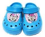 Zuecos Minnie Mouse Disney para Playa o Piscina - Zuecos Disney Minnie Mouse para Niñas (Azul, Numeric_26)