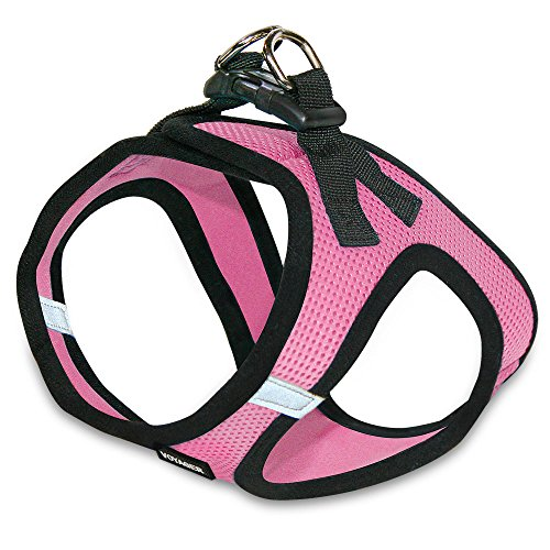 Voyager Step-In Air Dog Harness - All Weather Mesh, Step In Vest Harness for Small and Medium Dogs by Best Pet Supplies - Pink Base, Large (Chest: 18