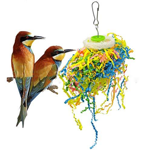 Petyoung 5 Piezas de Juguetes de Trituración de Loros Jaula de Pájaros Trituradora de Juguete de Pájaro Forrajero Juguetes Colgantes Fáciles de Colgar